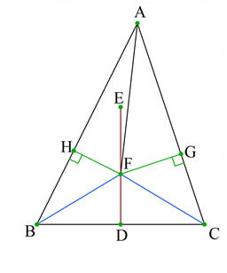 هر مثلث متساوی الساقین است
